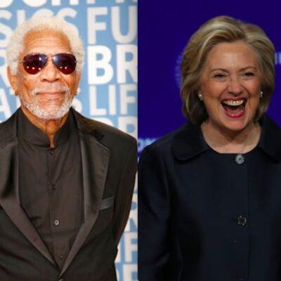 Morgan Freeman Hillary Clinton