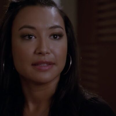 Naya Rivera in character as Santana on an episode of Glee