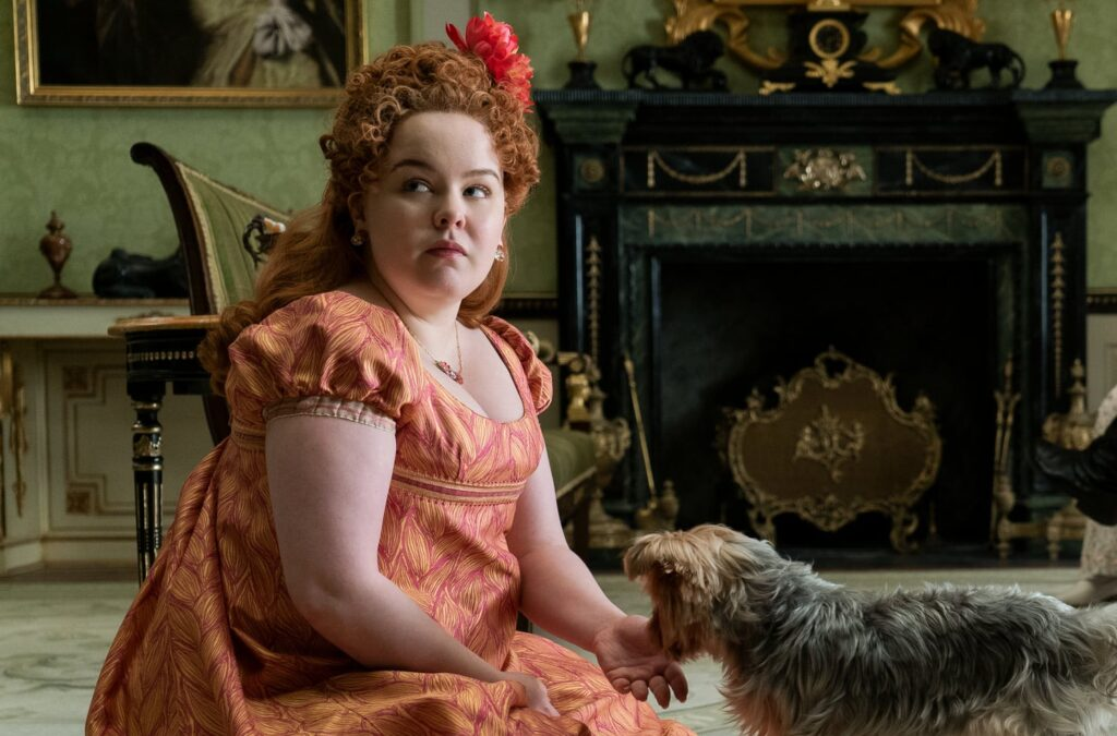 Nicola Coughlan as Penelope Featherington in 'Bridgerton'.