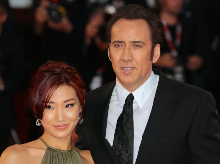 Nicolas Cage with ex-wife Alice Kim at the Venice International Film Festival in 2013