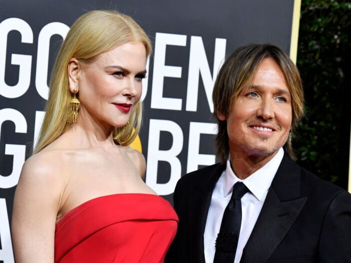 Nicole Kidman and Keith Urban attend the 77th Annual Golden Globe Awards at The Beverly Hilton Hotel