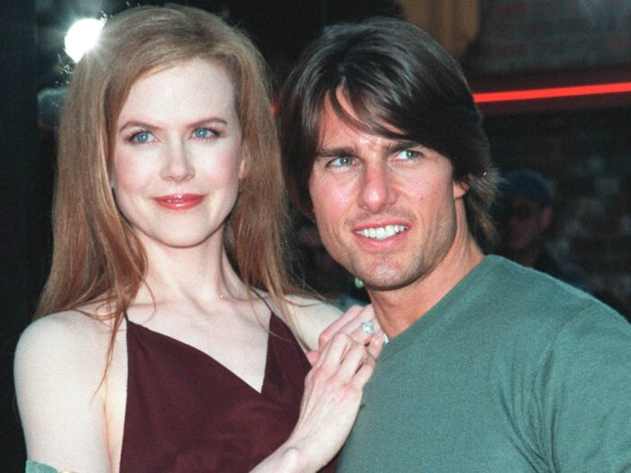 Nicole Kidman and Tom Cruise at the premiere of Eyes Wide Shut