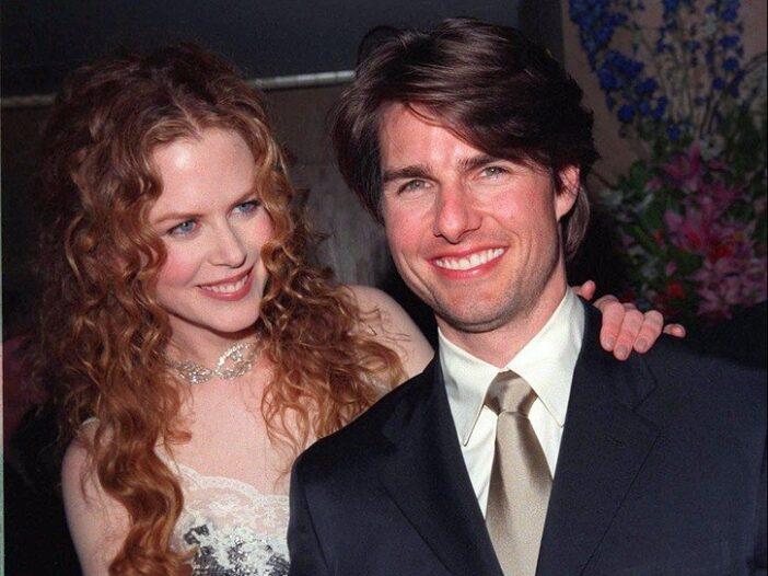 Nicole Kidman and Tom Cruise the night he won the 1998 John Huston Award in Beverly Hills