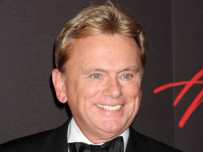 Pat Sajak smiling in a tuxedo.