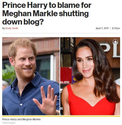 Prince Harry Meghan Markle Blog
