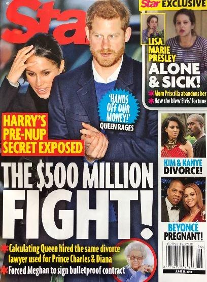 Prince Harry Meghan Markle Prenup Cover Story