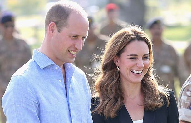 Prince William and Kate Middleton in Pakistan in October 2019