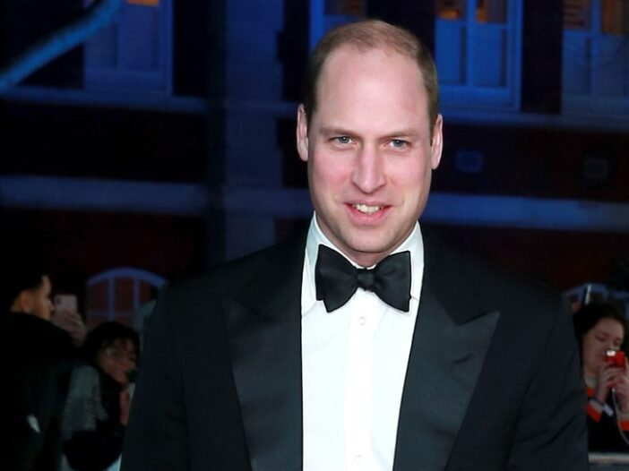 Prince William wearing a tuxedo.