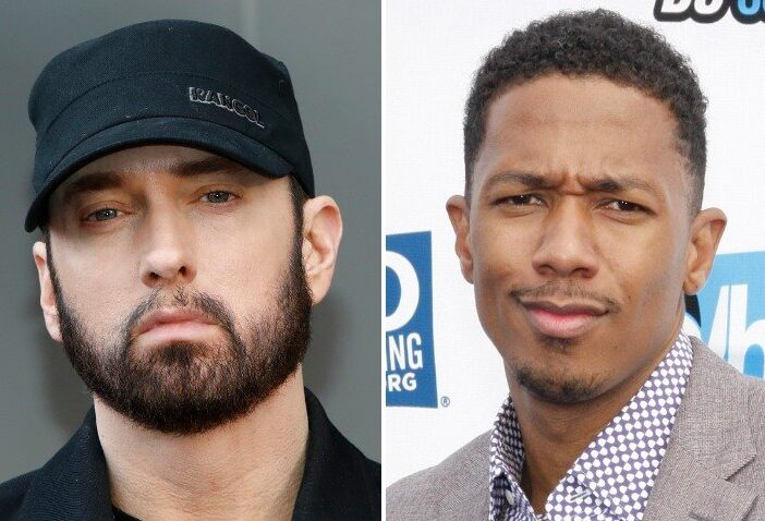 Rapper Eminem and Nick Cannon feud