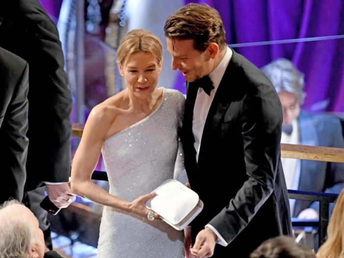 Renée Zellweger and Bradley Cooper attend the 92nd Annual Academy Awards