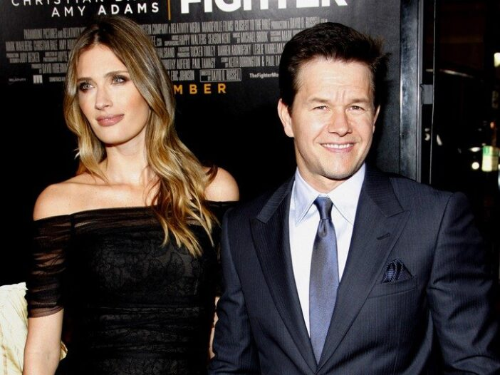 Rhea Durham and her husband Mark Wahlberg attend the premiere of The Fighter