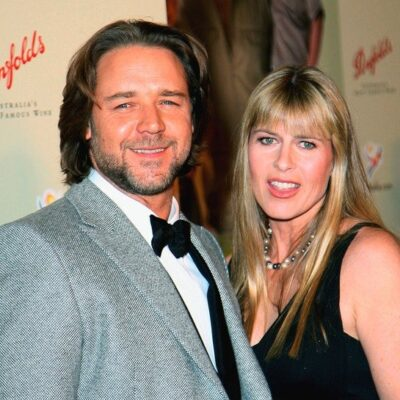 Russell Crowe and Terri Irwin together in 2007.