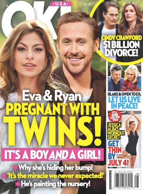 Ryan Gosling Eva Mendes Twins