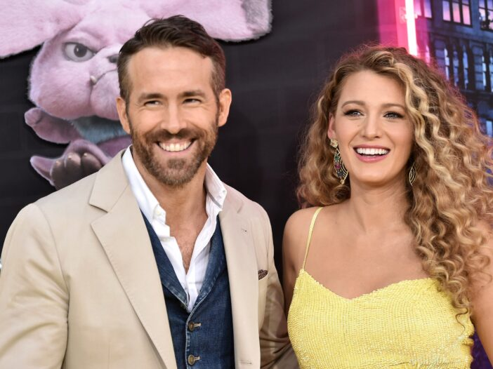 """Ryan Reynolds and Blake Lively attend the premiere of """"Pokemon Detective Pikachu"""" at Military Island"""