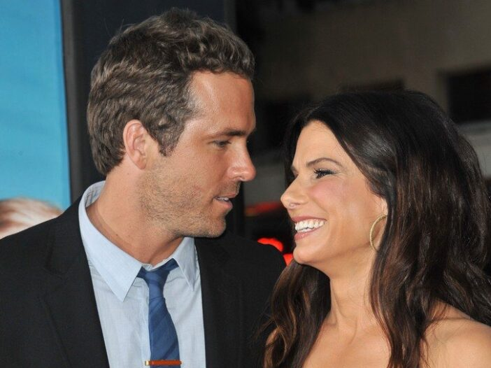 Ryan Reynolds and Sandra Bullock chat at the premiere of The Change-Up