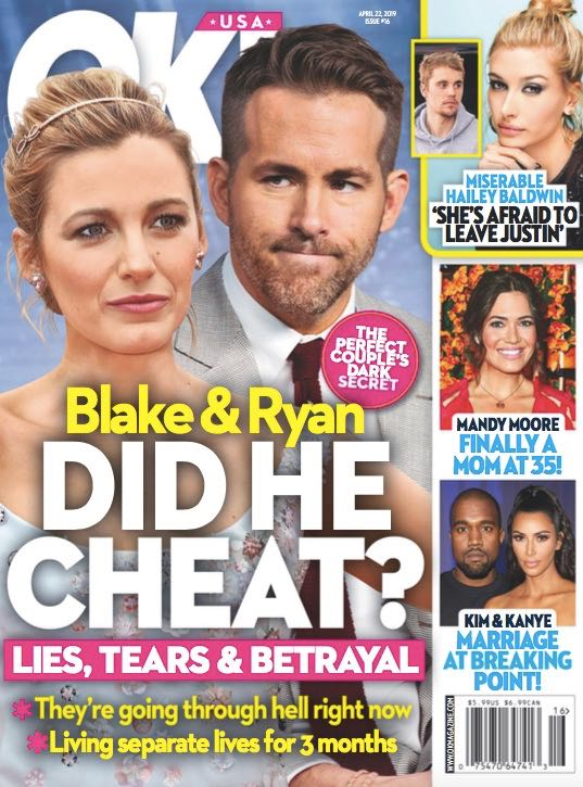 Ryan Reynolds Blake Lively Divorce Cheated