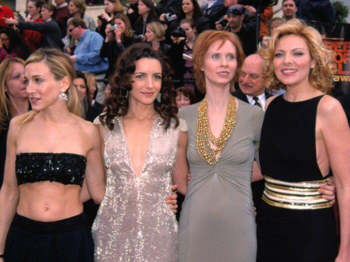 Sarah Jessica Parker, Kristin Davis, Cynthia Nixon, and Kim Cattrall at the SAG Awards