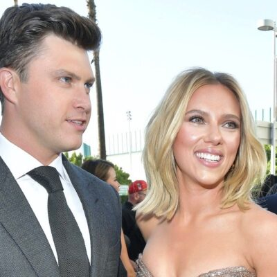 """Scarlett Johansson and Colin Jost at the premiere of """"Avengers: Endgame"""""""