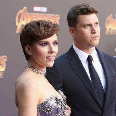 Scarlett Johansson Colin Jost SNL
