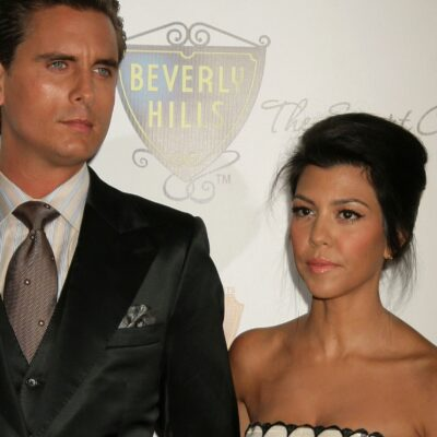 Scott Disick on the left, Kourtney Kardashian on the right, back when they were still together.