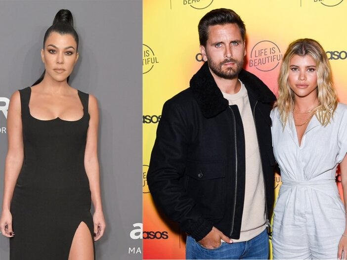 Scott Disick Sofia Richie Kourtney Kardashian interfere