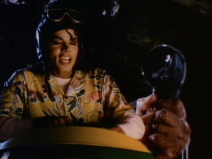 """Screenshot from Michael Jackson's """"Leave Me Alone"""" video"""