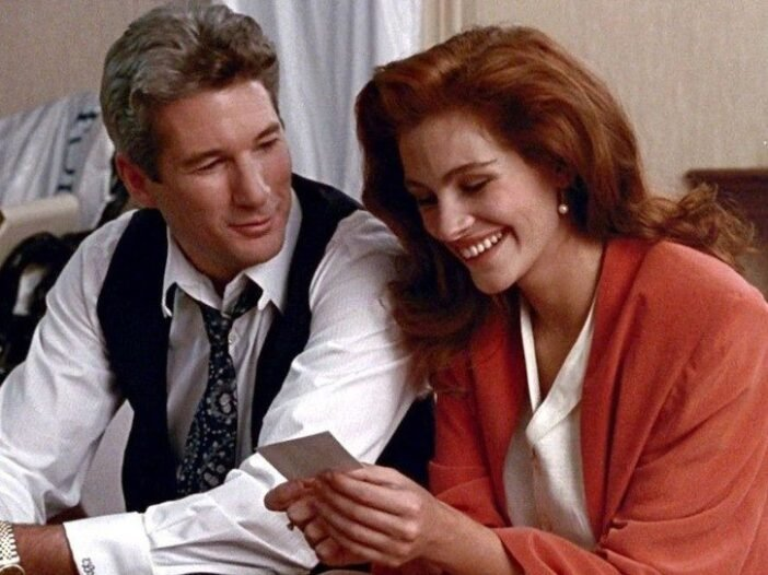 """Screenshot from """"Pretty Woman"""" of Richard Gere on the left and Julia Roberts on the right"""