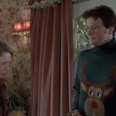 Screenshot from the ugly sweater scene in _Bridget Jones's Diar_y