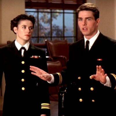 Screenshot of Demi Moore and Tom Cruise in A Few Good Men.