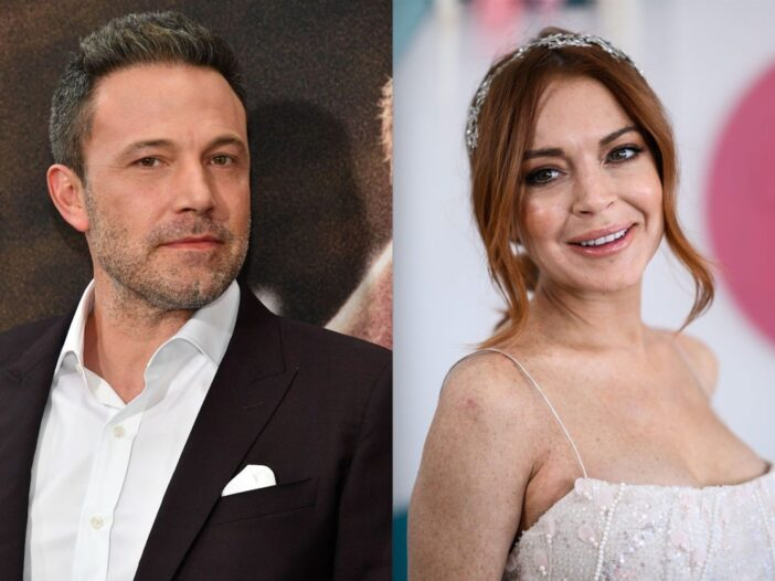 Side by side photos of Ben Affleck and Lindsay Lohan