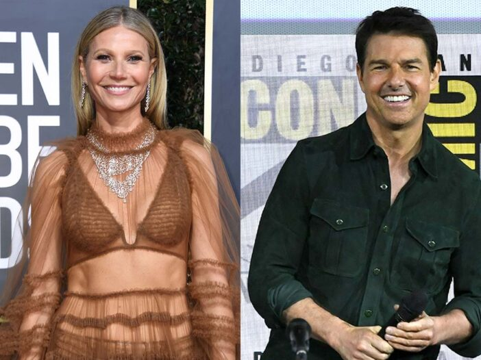 Side by side photos of Gwyneth Paltrow and Tom Cruise