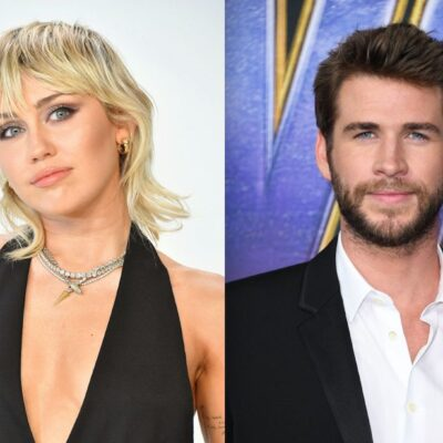 Side by side photos of Miley Cyrus and Liam Hemsworth