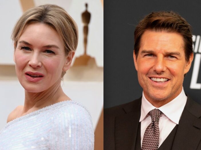 Side by side photos of Renee Zellweger and Tom Cruise