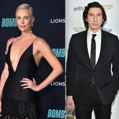 Side by side shots of Brad Pitt, Charlize Theon, Adam Driver and Zac Efron