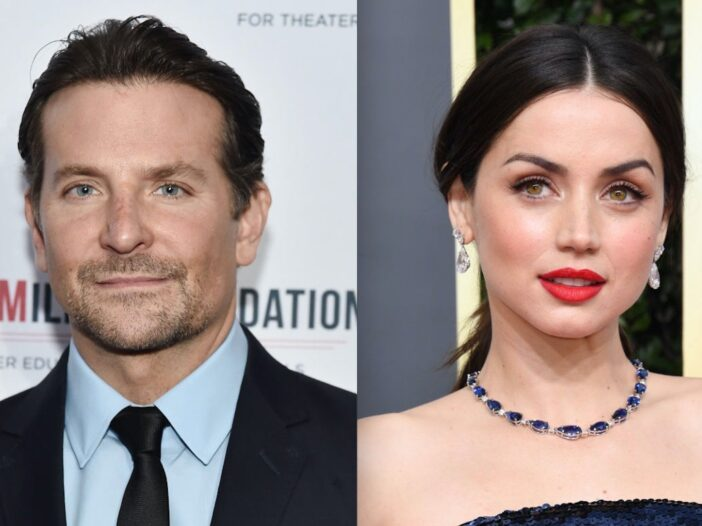 Side by side shots of Bradley Cooper and Ana de Armas