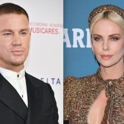 Side by side shots of Channing Tatum and Charlize Theron