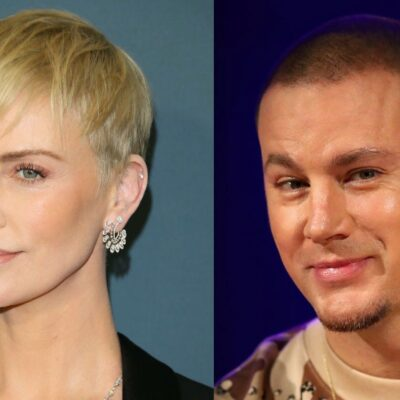 Side by side shots of Charlize Theron and Channing Tatum