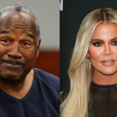 Side by side shots of O.J. Simpson and Khloe Kardashian