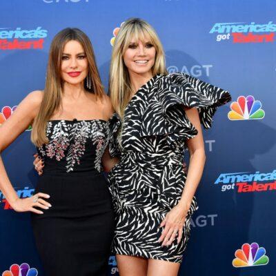 "Sofia Vergara and Heidi Klum attend the ""America's Got Talent"" Season 15 Kickoff"