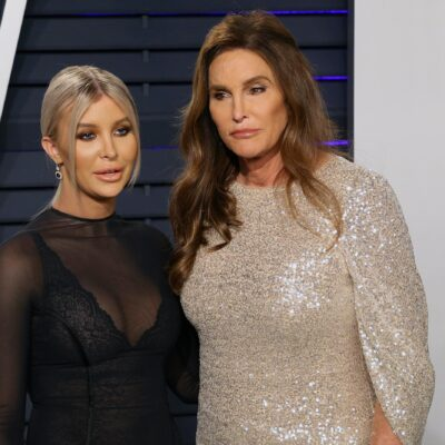 Sophia Hutchins on the left, Caitlyn Jenner on the right, standing together.