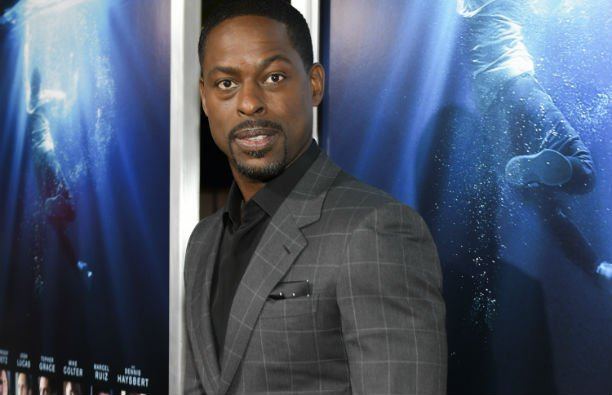 Sterling K. Brown in a gray suit on the red carpet