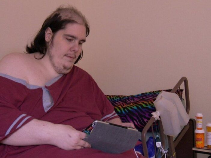 Steven Assanti looking at a tablet while on _My 600-lb Life._