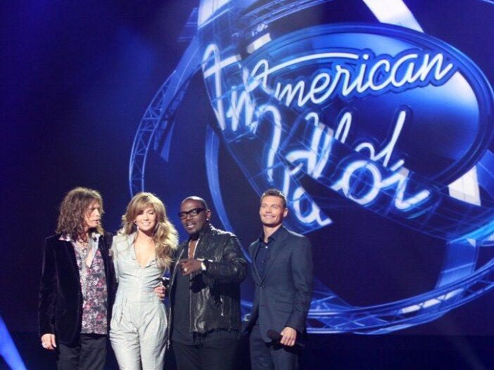 Steven Tyler, Jennifer Lopez, Randy Jackson, Ryan Seacrest at an American Idol Season 10 event