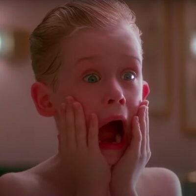 still from Home Alone of Macaulay Culkin screaming with his hands on his face