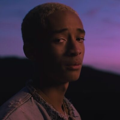 still of Jaden in a denim jacket from the music video for Ninety by Jaden Smith