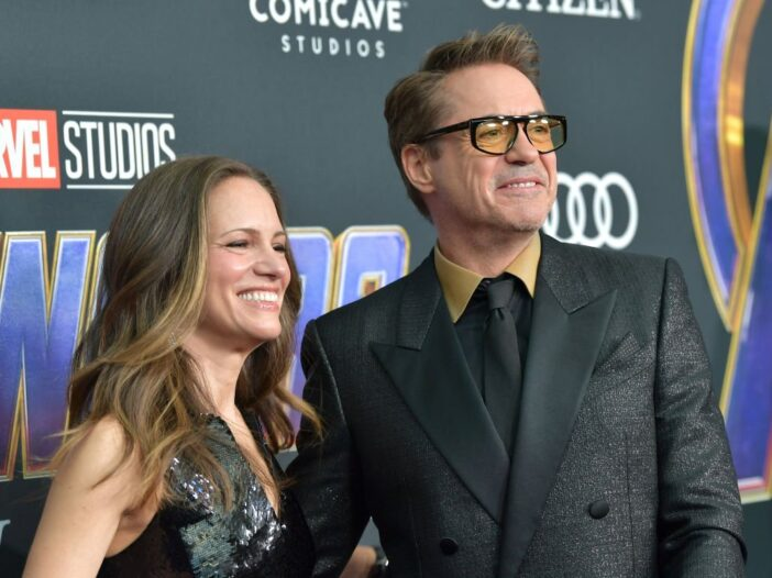 Susan Downey and Robert Downey Jr. attend the world premiere of Walt Disney Studios Motion Pictures