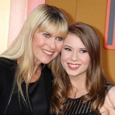 Terri Irwin on the left with her arm around Bindi Irwin, on the right.
