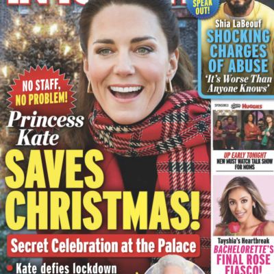 The cover in In Touch, dated December 28th, 2020 with Kate Middleton's picture.