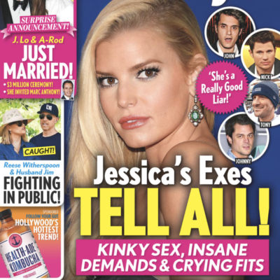 The cover of Life & Style Magazine featuring a photo of Jessica Simpson