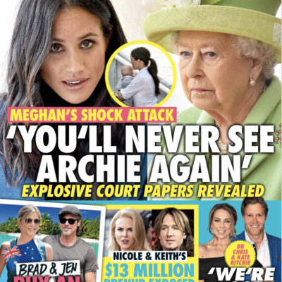 The cover of the July 13th New Idea Magazine with photos of Meghan Markle and Queen Elizabeth